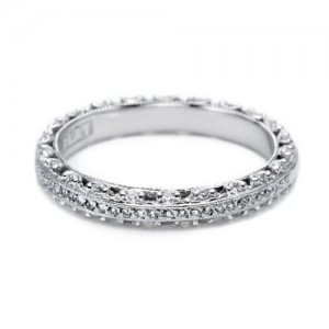 Tacori Platinum Crescent Silhouette Wedding Band HT2370P