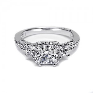 Tacori Platinum Dantela Engagement Ring 2622PRSMP