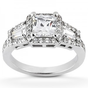 Taryn Collection Platinum Diamond Engagement Ring TQD 6068