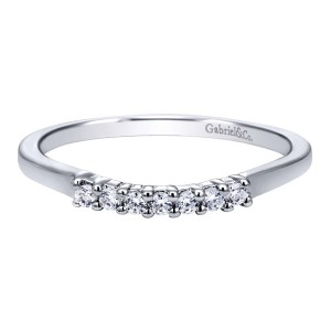 Gabriel 14 Karat Contemporary Wedding Band WB10224W44JJ