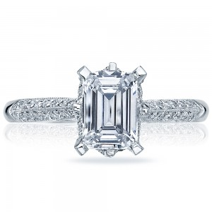 2504EMP7X5 Platinum Simply Tacori Engagement Ring