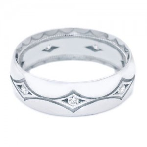 Tacori 1007WD Platinum Crescent Wedding Band
