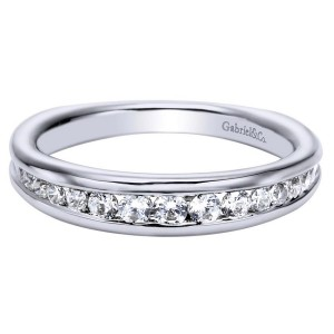 Gabriel 14 Karat Contemporary Wedding Band WB4182W44JJ