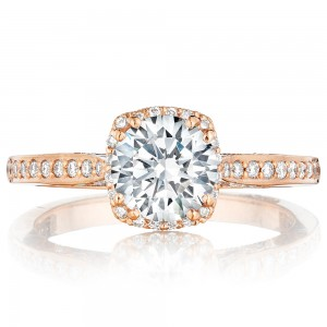 Tacori 2620RDSMPPK 18 Karat Pretty In Pink Engagement Ring