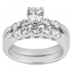 Taryn Collection Platinum Diamond Engagement Ring TQD A-365