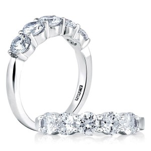 A.JAFFE Classic Platinum Diamond Wedding Ring MR1083 / 50