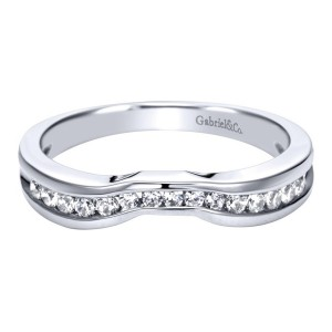 Gabriel Platinum Contemporary Wedding Band WB1726PT3JJ