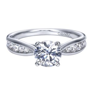 Gabriel 14 Karat Contemporary Engagement Ring ER8188W44JJ