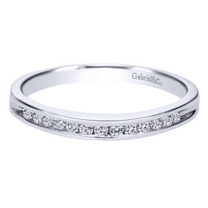 Gabriel 14 Karat Contemporary Wedding Band WB2150W44JJ
