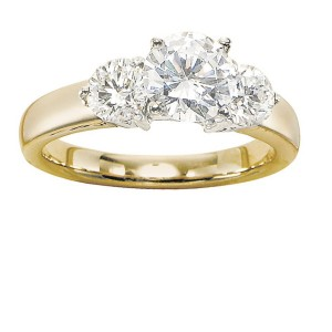 Gabriel 14 Karat Contemporary Engagement Ring ER2790M43JJ