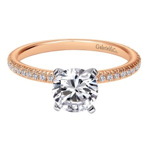 Gabriel 14 Karat Contemporary Engagement Ring ER4181T44JJ