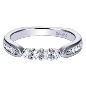 Gabriel 14 Karat Contemporary Wedding Band WB3993W44JJ