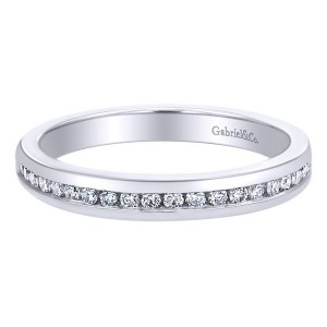 Gabriel 14 Karat Contemporary Wedding Band WB6590W44JJ