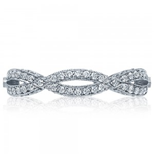 HT2528B Platinum Tacori Ribbon Diamond Wedding Ring