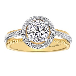 Gabriel 14 Karat Contemporary Engagement Ring ER5366M43JJ