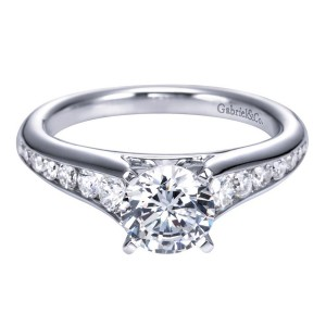 Gabriel 14 Karat Contemporary Engagement Ring ER6664W44JJ