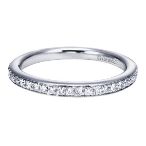Gabriel 14 Karat Contemporary Wedding Band WB6684W44JJ