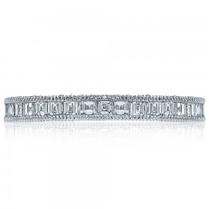 HT2517B12X Platinum Tacori Blooming Beauties Diamond Wedding Ring