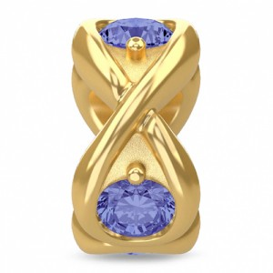 Endless Jewelry Tanzania Blue Infinity Ocean 18k Gold Plated Charm 51351-2