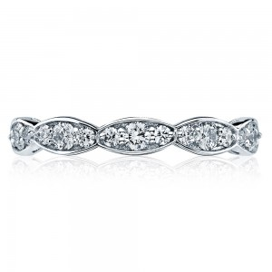 46-3ET Platinum Tacori Sculpted Crescent Diamond Wedding Ring