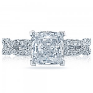 HT2528PR7 Platinum Tacori Ribbon Engagement Ring