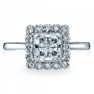 55-2PR65 Platinum Tacori Full Bloom Engagement Ring