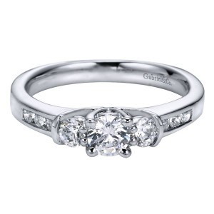 Gabriel 14 Karat Contemporary Engagement Ring ER93967W44JJ