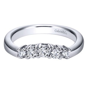 Gabriel 14 Karat Contemporary Wedding Band WB3813W44JJ
