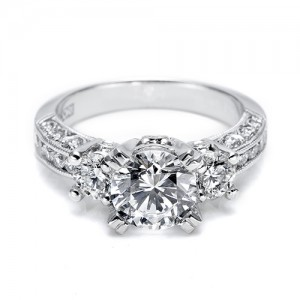 Tacori Platinum Crescent Engagement Ring HT2326