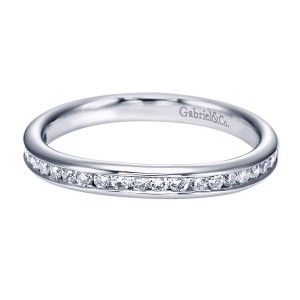 Gabriel 14 Karat Contemporary Wedding Band WB7516W44JJ