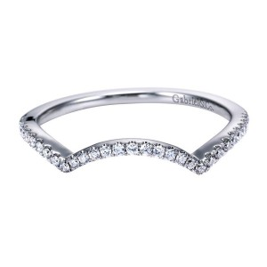 Gabriel 14 Karat Contemporary Wedding Band WB7804W44JJ