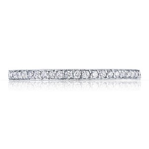 41-1534W Platinum Tacori Sculpted Crescent Diamond Wedding Ring