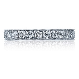 41-3ET Platinum Tacori Sculpted Crescent Diamond Wedding Ring