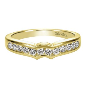 Gabriel 14 Karat Contemporary Wedding Band WB2294Y43JJ