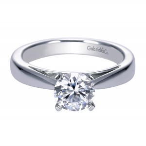 Gabriel Platinum Contemporary Engagement Ring ER8132PTJJJ