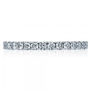 33-2ET Platinum Tacori Clean Crescent Diamond Wedding Ring