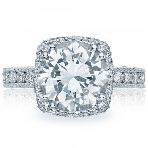 HT2607RD10 Platinum Tacori RoyalT Engagement Ring