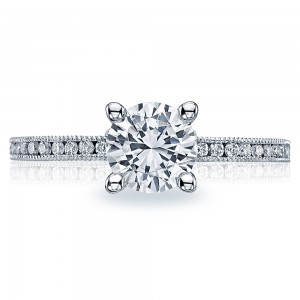 41-15RD6 Platinum Tacori Sculpted Crescent Engagement Ring