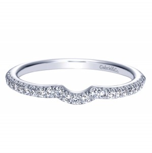 Gabriel 14 Karat Contemporary Wedding Band WB8585W44JJ