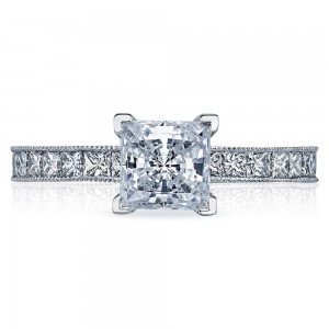 45-25PR6 Platinum Tacori Sculpted Crescent Engagement Ring