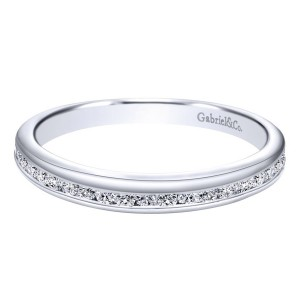 Gabriel 14 Karat Contemporary Wedding Band WB10162W44JJ