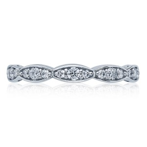46-25ET Platinum Tacori Sculpted Crescent Diamond Wedding Ring
