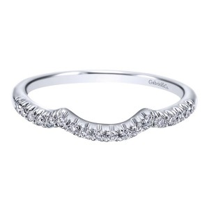 Gabriel 14 Karat Contemporary Wedding Band WB10158W44JJ