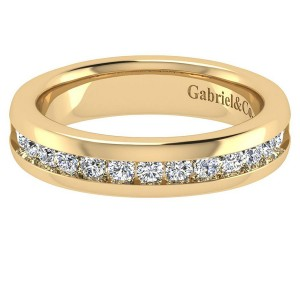 Gabriel 14 Karat Contemporary Wedding Band WB3986Y44JJ