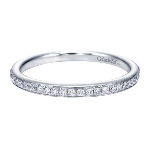 Gabriel 14 Karat Contemporary Wedding Band WB7537W44JJ