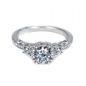 Tacori Platinum Dantela Engagement Ring 2623RDPTP
