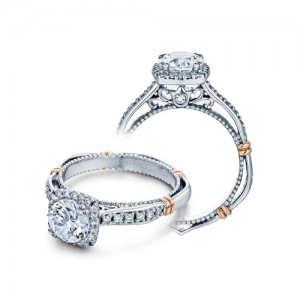 Verragio Parisian-104CU Platinum Engagement Ring