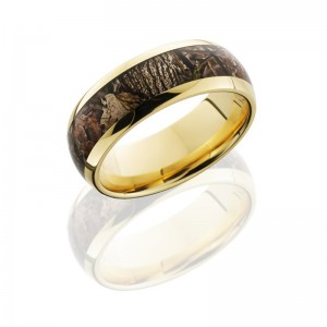 Lashbrook 14KY8D15/KINGSWOODLAND POLISH Camo Wedding Ring or Band