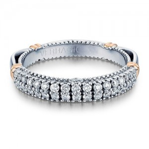 Verragio Parisian-115W Platinum Wedding Ring / Band