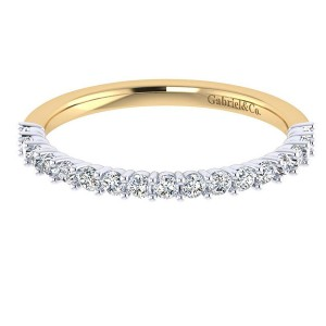 Gabriel 14 Karat Contemporary Wedding Band WB7499M44JJ